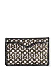 Alexander Mcqueen Skull Printed Coated Canvas Card Holder
