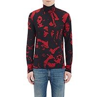 Maison Martin Margiela Men's Long Sleeve Turtleneck Top Black Red No Color Black Red No Color
