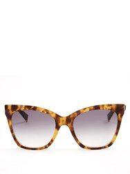 Max Mara Modern Cat Eye Sunglasses Tortoiseshell