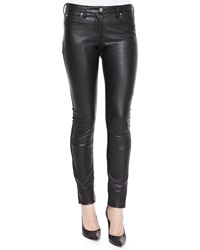 Roberto Cavalli Waxed Front Paneled Denim Jeans
