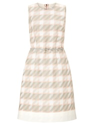 Boss Logo Boss Dogtooth Dress Pink