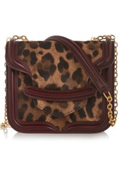 Alexander Mcqueen The Heroine Mini Calf Hair And Leather Shoulder Bag Leopard Print