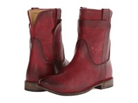 Frye Paige Short Riding Burgundy Antique Pull Up Women's Pull On Boots Brown