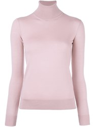 Ralph Lauren Purple Turtleneck Jumper Pink And Purple