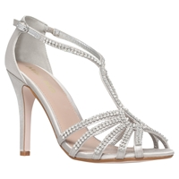 Miss Kg Pippa 2 High Heel Occasion Shoes Silver