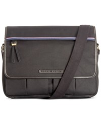 Tommy Hilfiger Ethan Flap Messenger Bag Black