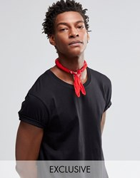 Reclaimed Vintage Paisley Bandana In Red Red