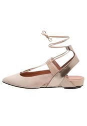 Oxitaly Susy Slingback Ballet Pumps Skin Nude