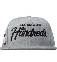 The Hundreds Athletic Heather Forever Team Snapback Cap Grey