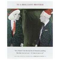 Cardmix Two Men In Christmas Hats Card