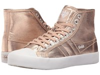 Gola Coaster High Metallic Rose Gold Rose Gold Women's Shoes