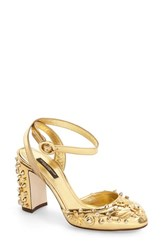 Dolce And Gabbana Women's Floral Stud Pump