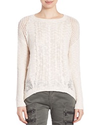 Buffalo David Bitton Open Knit Sweater Oatmeal Heather