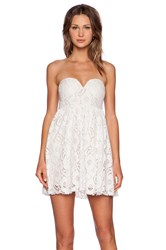 Toby Heart Ginger Summer Lace Strapless Dress White