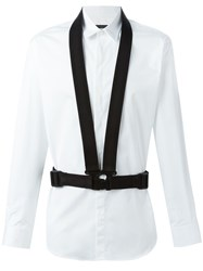 Dsquared2 Buckle Strap Detail Shirt White