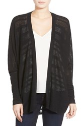Trouve Women's Trouve Lightweight Open Cardigan Black