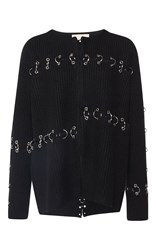 Christopher Kane Metal Ring Split Boxy Jacket Black