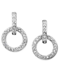 Eliot Danori Earrings Crystal Accented Circle