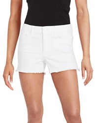 Jessica Simpson Uptown High Rise Shorts White
