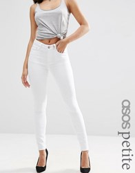 Asos Petite Ridley Skinny Jeans In White White
