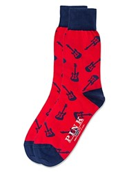 Thomas Pink Marlow Guitar Socks Red Navy