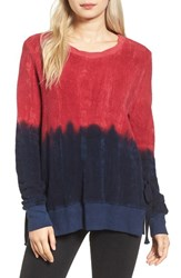 Pam And Gela Women's Inside Out Ombre Side Slit Sweater