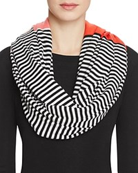 Kate Spade New York Color Block Striped Infinity Scarf Persimmon
