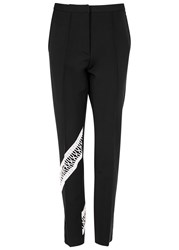 Christopher Kane Black Lace Trimmed Jersey Trousers
