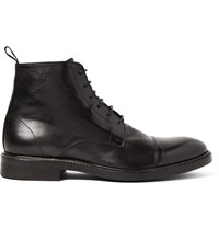 Paul Smith Jarman Cap Toe Leather Boots Black