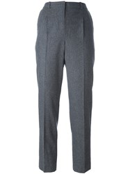 Carven Straight Tailored Trousers Grey