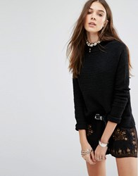 Free People Boho Wrap Jumper Black