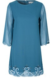 Alice And You Embellished Tunic Dress Teal