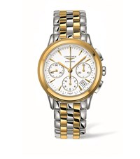 Longines Flagship Column Wheel Chronograph Watch Unisex White