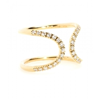 Roberto Marroni 18Kt Yellow Gold Ring With White Diamonds Yellow Gold Polish