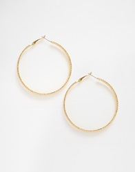 Paper Dolls Paperdolls 3 Layered Hoop Earrings Gold