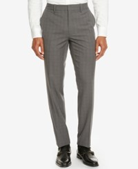 Kenneth Cole Reaction Men's Plaid Dress Pants Dim Grey Combo