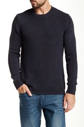 Native Youth Crew Neck Knit Sweater Blue
