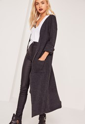Missguided Maxi Cardigan Grey