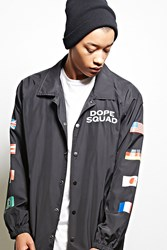 Forever 21 Dope Squad Graphic Coach Jacket Black