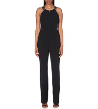 Ted Baker Saama Wide Leg Crepe Jumpsuit Black