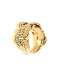 Chimento 18K Yellow Gold Link Infinity Ring With Diamonds White Gold
