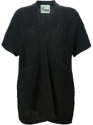8Pm Open Knit Cardigan Black