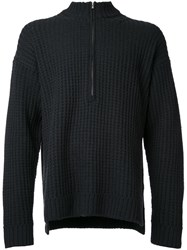Monkey Time Cable Knit Jumper Black