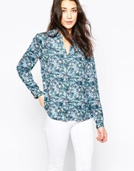 See U Soon Shirt In Bird Print Blue