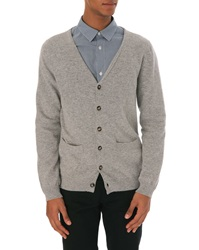 A.P.C. John Grey Cashmere And Wool Cardigan