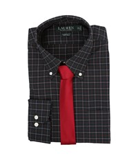 Lauren Ralph Lauren Poplin Checks Classic Pocket Dress Shirt Green Red White Men's Clothing Multi