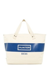 Hunter East West Graphic Canvas Shopper Blue