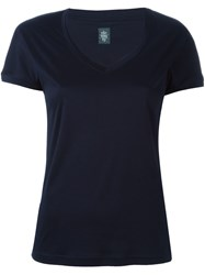 Eleventy V Neck T Shirt Blue