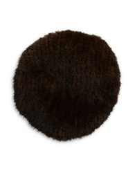 Surell Mink Fur Beret Brown