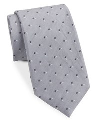 Vince Camuto Dotted Silk Blend Tie Black